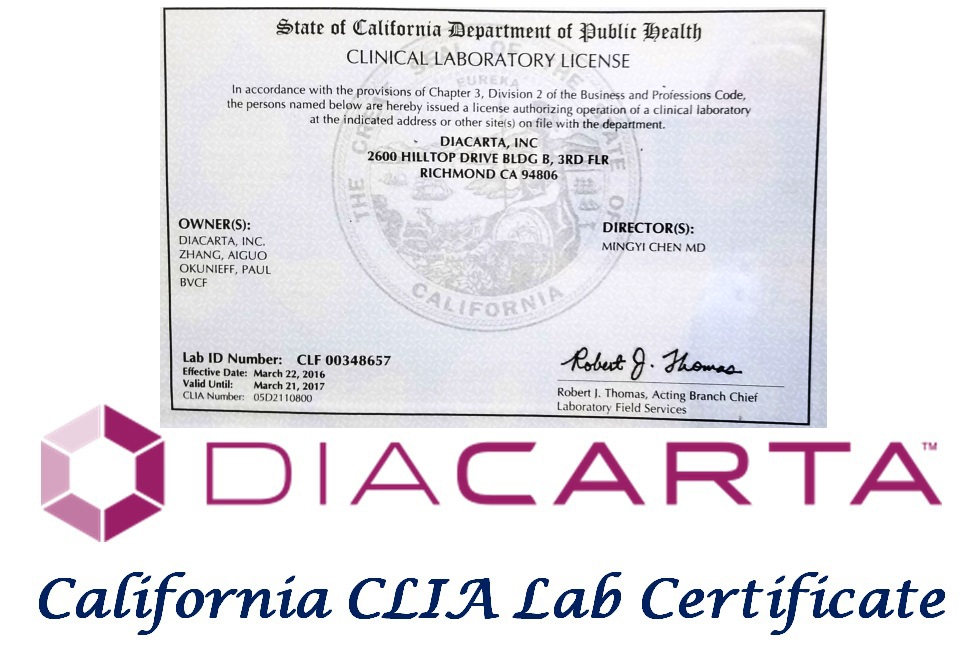 Diacarta in JOINN Innovation Park Passed CLIA Survey