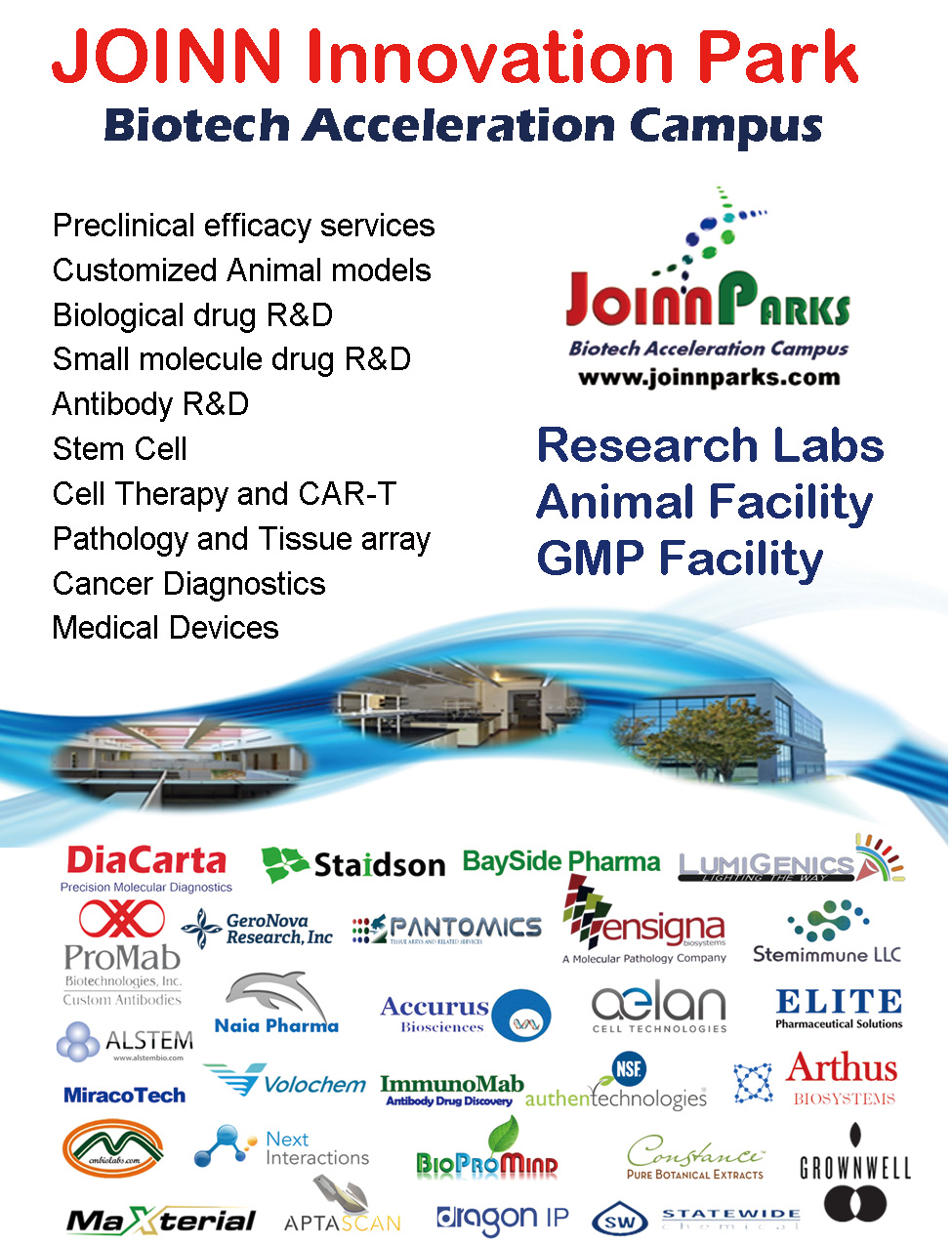 JOINN Innovation Park in BioPacific Conference in May 2016
